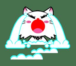 Gigi little white cat sticker #6247121