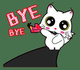 Gigi little white cat sticker #6247122