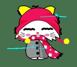 Gigi little white cat sticker #6247137
