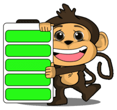 Funny and cute monkey2 sticker #6257618