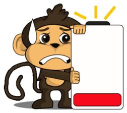 Funny and cute monkey2 sticker #6257619