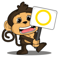 Funny and cute monkey2 sticker #6257620