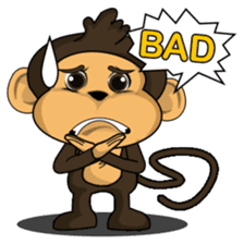 Funny and cute monkey2 sticker #6257621