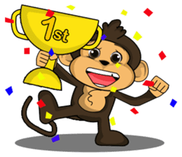 Funny and cute monkey2 sticker #6257622