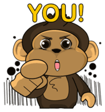 Funny and cute monkey2 sticker #6257631