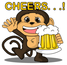 Funny and cute monkey2 sticker #6257632