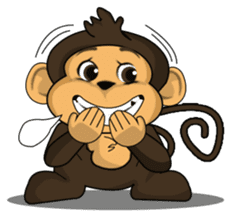 Funny and cute monkey2 sticker #6257633