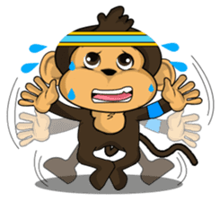 Funny and cute monkey2 sticker #6257638