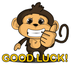 Funny and cute monkey2 sticker #6257640