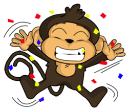 Funny and cute monkey2 sticker #6257642