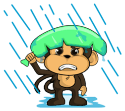Funny and cute monkey2 sticker #6257647