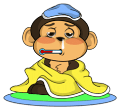Funny and cute monkey2 sticker #6257648