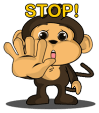 Funny and cute monkey2 sticker #6257649