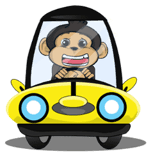 Funny and cute monkey2 sticker #6257651