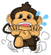Funny and cute monkey2 sticker #6257652