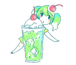 Melon cream soda - chan sticker #6269241