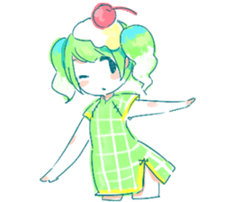 Melon cream soda - chan sticker #6269246