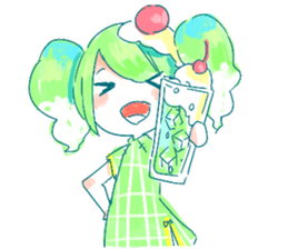 Melon cream soda - chan sticker #6269248