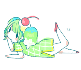 Melon cream soda - chan sticker #6269252