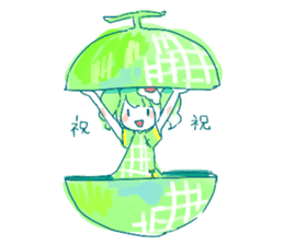 Melon cream soda - chan sticker #6269254