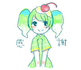Melon cream soda - chan sticker #6269255