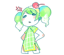 Melon cream soda - chan sticker #6269257
