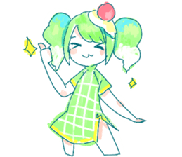 Melon cream soda - chan sticker #6269258