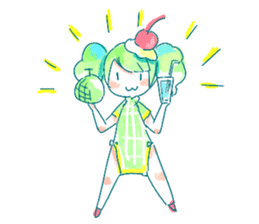 Melon cream soda - chan sticker #6269262