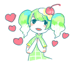 Melon cream soda - chan sticker #6269266