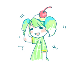 Melon cream soda - chan sticker #6269269