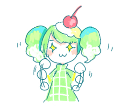 Melon cream soda - chan sticker #6269272