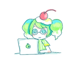 Melon cream soda - chan sticker #6269277