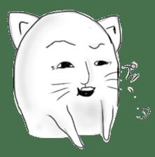 Human face cat fish sticker #6274054