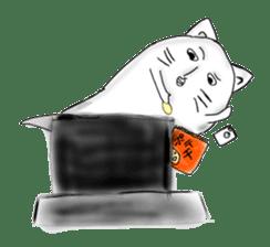 Human face cat fish sticker #6274056