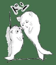 Human face cat fish sticker #6274058