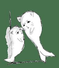 Human face cat fish sticker #6274060