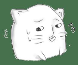 Human face cat fish sticker #6274070