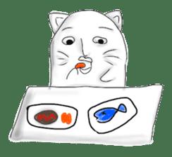 Human face cat fish sticker #6274084