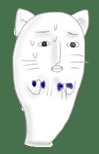 Human face cat fish sticker #6274092