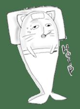 Human face cat fish sticker #6274095