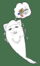 Human face cat fish sticker #6274096