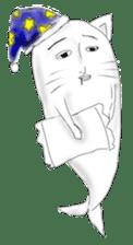Human face cat fish sticker #6274098