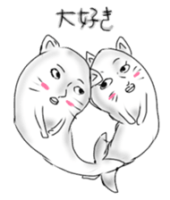 Human face cat fish sticker #6274106