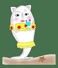 Human face cat fish sticker #6274108
