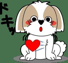 Cute Shih Tzu dog sticker #6275395