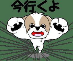 Cute Shih Tzu dog sticker #6275396