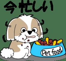 Cute Shih Tzu dog sticker #6275397