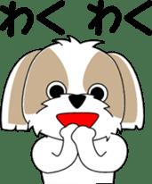 Cute Shih Tzu dog sticker #6275402