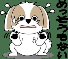 Cute Shih Tzu dog sticker #6275404