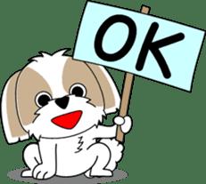 Cute Shih Tzu dog sticker #6275408